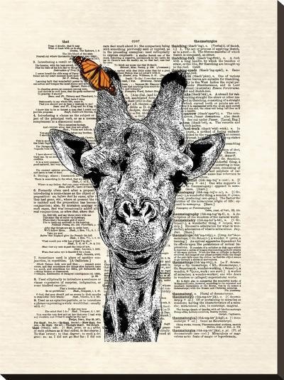 Butterfly Giraffe-Matt Dinniman-Stretched Canvas Print