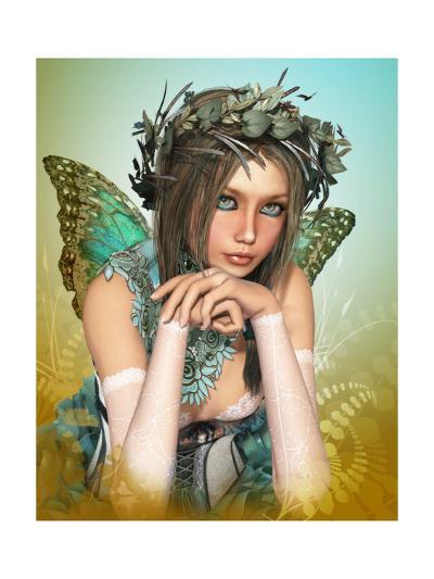 Butterfly Girl-Atelier Sommerland-Art Print