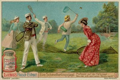 Butterfly Hunting and Lawn Tennis--Giclee Print