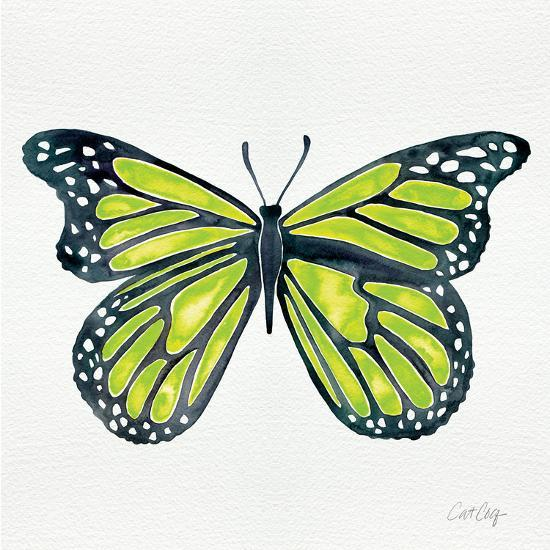 Butterfly in Lime-Cat Coquillette-Giclee Print