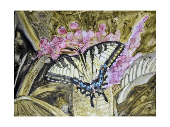 Butterfly in Nature II-B^ Lynnsy-Art Print