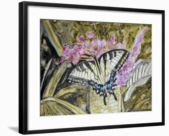 Butterfly in Nature II-B. Lynnsy-Framed Art Print