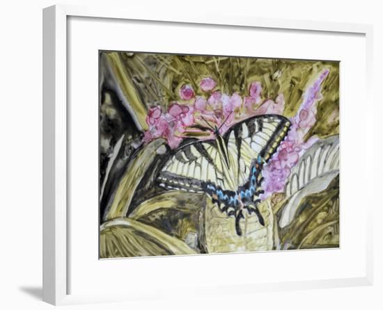 Butterfly in Nature II-B. Lynnsy-Framed Art Print