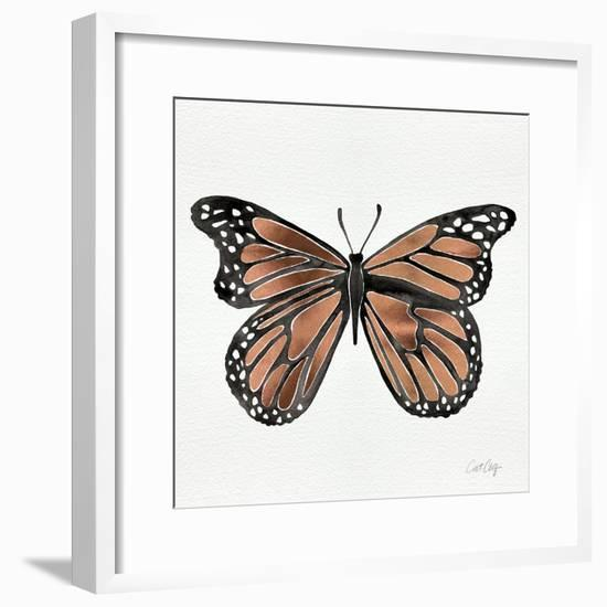 Butterfly in Rose Gold-Cat Coquillette-Framed Giclee Print