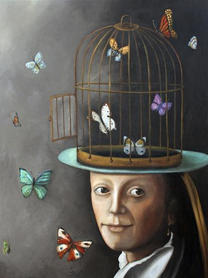Butterfly Keeper 1-Leah Saulnier-Giclee Print