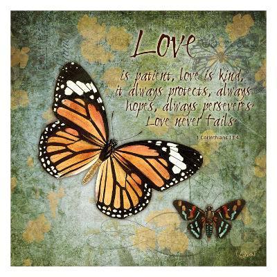 Butterfly Love-Carole Stevens-Art Print