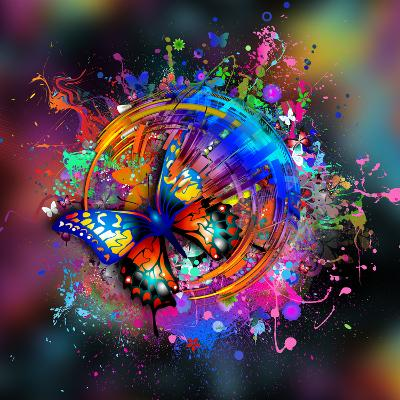 Butterfly Multicolor-reznik_val-Art Print