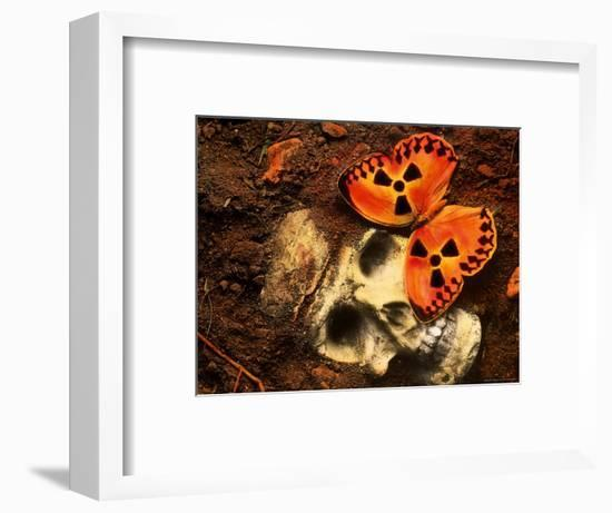 Butterfly on Skull-Terry Why-Framed Photographic Print