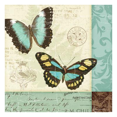 Butterfly Patchwork II-Pela Design-Premium Giclee Print