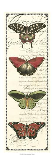 Butterfly Prose Panel I--Art Print