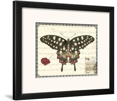 Butterfly Prose V--Framed Art Print