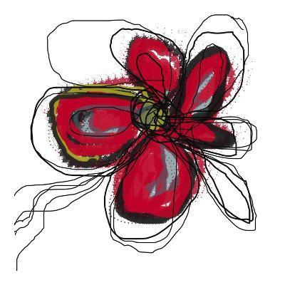 Butterfly Red-Jan Weiss-Art Print