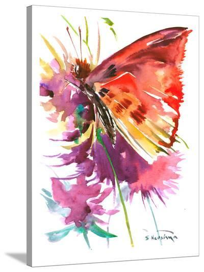 Butterfly Red-Suren Nersisyan-Stretched Canvas Print