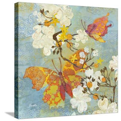 Butterfly Sky Blue--Stretched Canvas Print