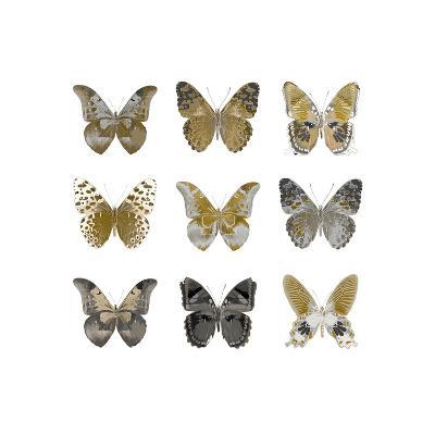 Butterfly Study in Gold I-Julia Bosco-Giclee Print