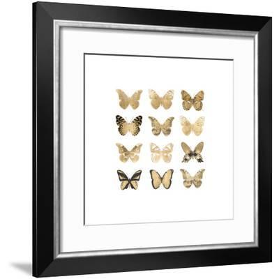 Butterfly Study in Gold II-Julia Bosco-Framed Giclee Print