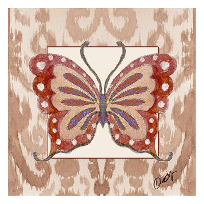 Butterfly Tile Tan-Anne Ormsby-Art Print