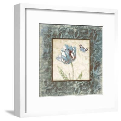 Butterfly Tulip 2-Jace Grey-Framed Art Print