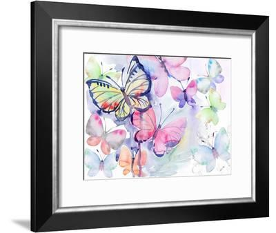 Butterfly Watercolor-Victoria Nelson-Framed Art Print