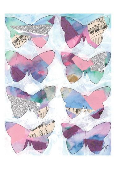 Butterfly Windows 1-Beverly Dyer-Art Print