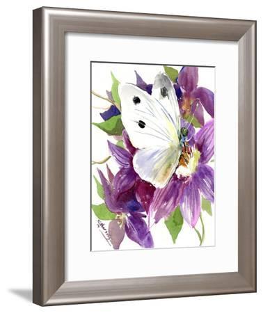 Butterfly-Suren Nersisyan-Framed Art Print