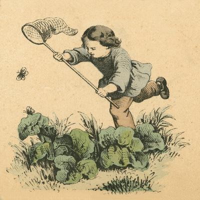 Butterflying-English School-Giclee Print