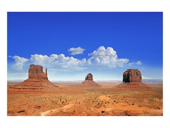 Buttes of Monument Valley Utah--Art Print