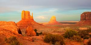 Buttes Rock Formations at Monument Valley, Utah-Arizona Border, USA