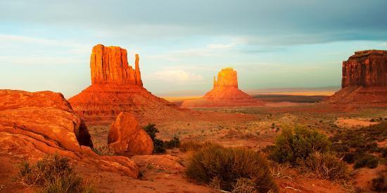 Buttes Rock Formations at Monument Valley, Utah-Arizona Border, USA--Photographic Print
