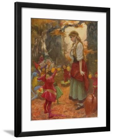 """ 'Buy from Us with a Golden Curl?' One of Them Held Up a Pair of Scissors""-Arthur C. Michael-Framed Giclee Print"