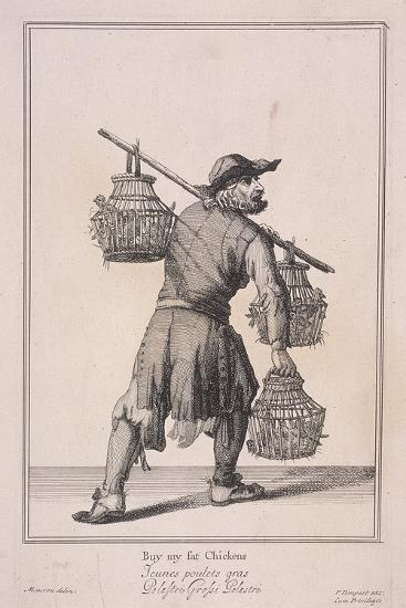 Buy My Fat Chickens, Cries of London, 1688-Marcellus Laroon-Giclee Print