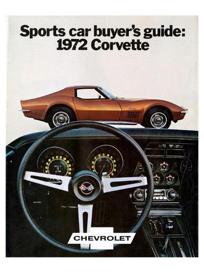 Buyer's Guide 1972 GM Corvette--Art Print