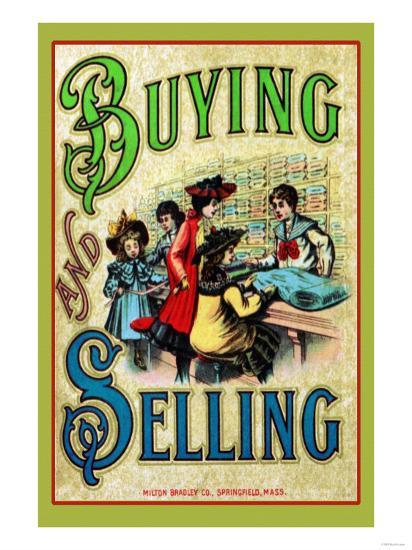 Buying and Selling--Art Print