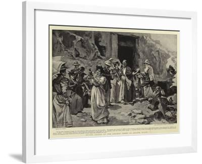 Buying Curios at the Ancient Tombs at Ghizeh, Egypt--Framed Giclee Print