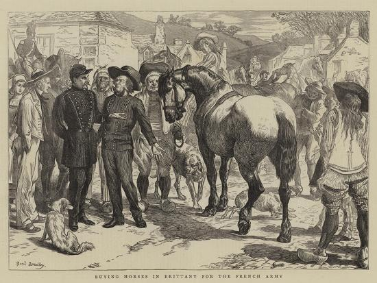 Buying Horses in Brittany for the French Army-Basil Bradley-Giclee Print