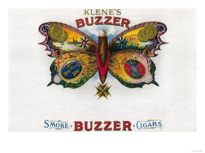 Buzzer Cigar Box Label-Lantern Press-Art Print