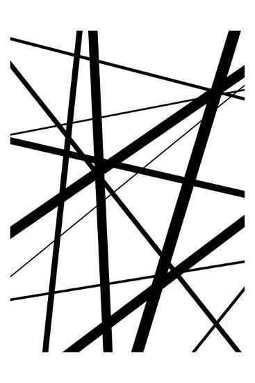 BW Geo Lines 1-Urban Epiphany-Art Print