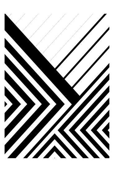 BW Geo Lines 3-Urban Epiphany-Art Print