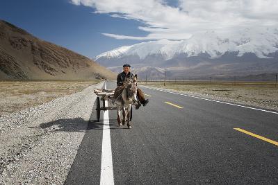 By Donkey on the Karakorum Highway- Reggy-Photographic Print
