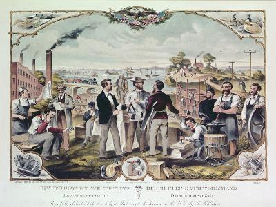 By Industry We Thrive, Published by Kimmel and Voigt, 1873--Giclee Print