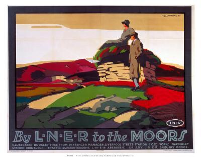 By LNER to the Moors, LNER, c.1923-1947--Art Print