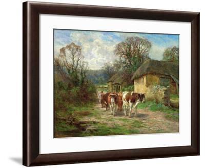 By the Barn-Charles James Adams-Framed Giclee Print
