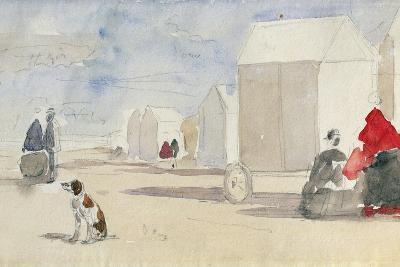By the Bathing Machines, 1866-Eug?ne Boudin-Giclee Print