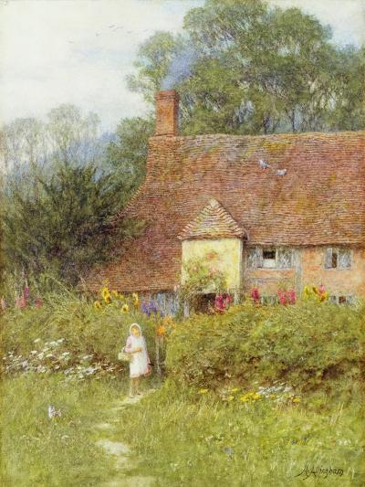 By the Cottage Gate-Helen Allingham-Giclee Print
