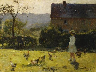 By the Farmhouse-Evariste Carpentier-Giclee Print