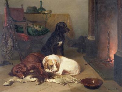 By the Fireside-Conradyn Cunaeus-Giclee Print