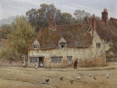 By the Old Cottage-Helen Allingham-Giclee Print
