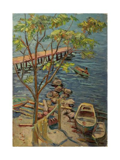 By the Pier in Gurzuf, 1960s-Svetlana Ryazanova-Giclee Print