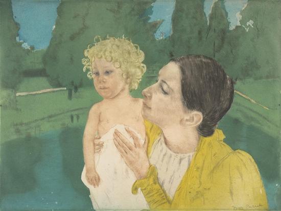 By the Pond, c.1896-Mary Stevenson Cassatt-Giclee Print