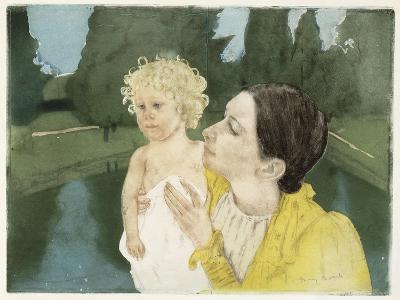 By the Pond, C.1898-Mary Cassatt-Giclee Print
